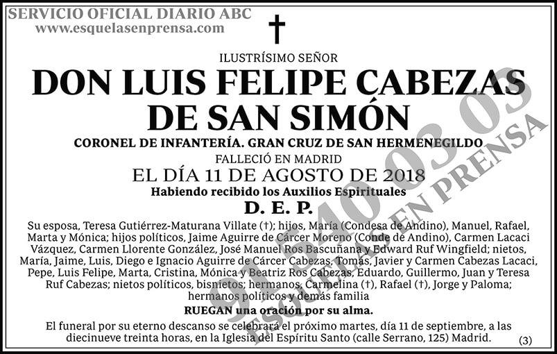 Luis Felipe Cabezas de San Simón